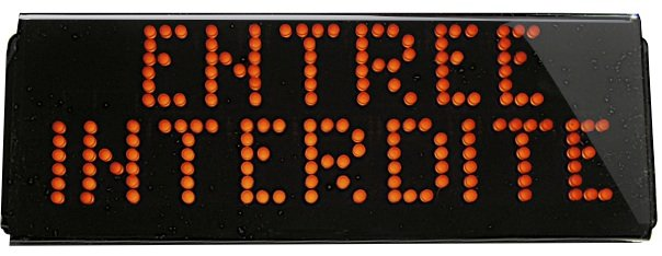 signalisation lumineuse clignotante a led